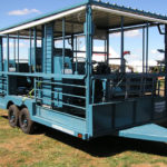 Trailer shades dual sheep handler