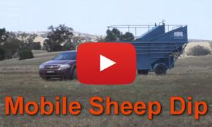 Peak plunge mobile sheep dip setting up